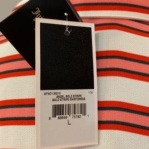 Juicy Couture Dresses - NWT Juicy Couture Black Label Stripe ShirtDress, L